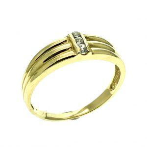 Gouden ring met Swarovski Zirconia