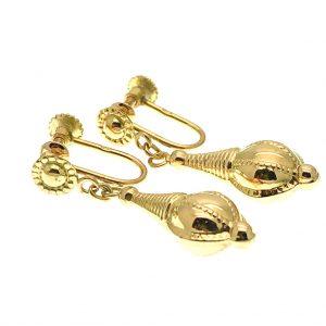 vintage gouden oorclips
