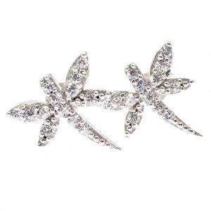 zilveren oorstekers van libelle