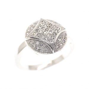 zilveren fantasie ring met zirconia
