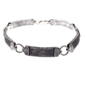 zilveren fantasie schakel armband