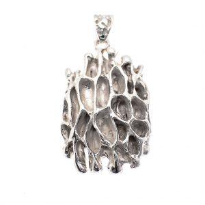 zilveren artistieke hanger