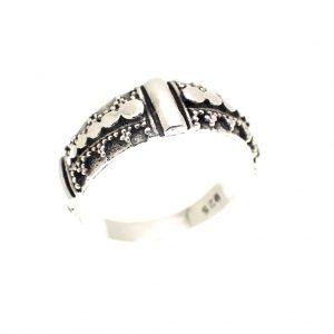 zilveren bohemian ring