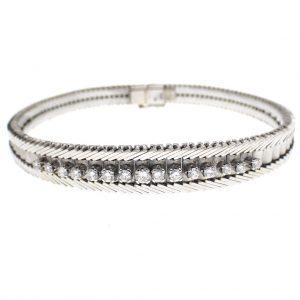 witgouden vintage armband met diamant