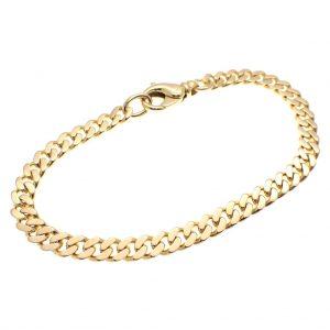 gouden gourmetschakel armband