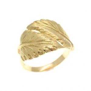 gouden ring bladeren 18 karaat