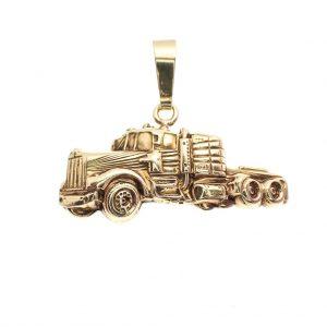 Gouden hanger vrachtwagen