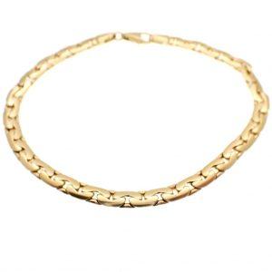 gouden infinity schakel armband