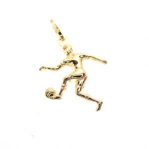 gouden hanger van voetballer