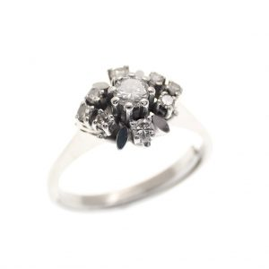 witgouden vintage ring