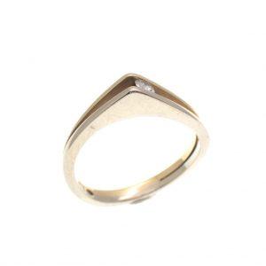 bicolor gouden ring met diamant