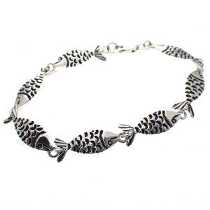 zilveren armband visjes