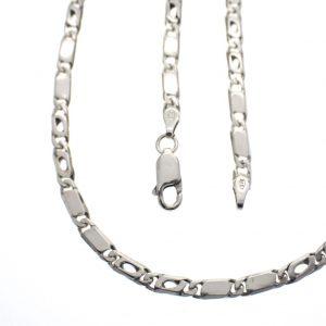 zilveren ketting gesloten figaro ketting