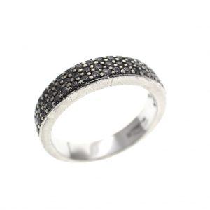 zilveren pave ring zirconia