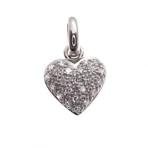 witgouden hanger diamant pavé