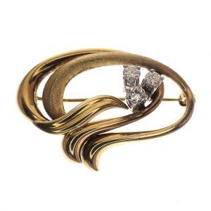 gouden broche met diamanten