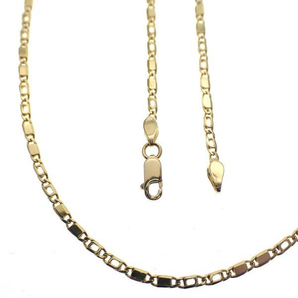 Gouden ketting met unieke schakels 14 karaat