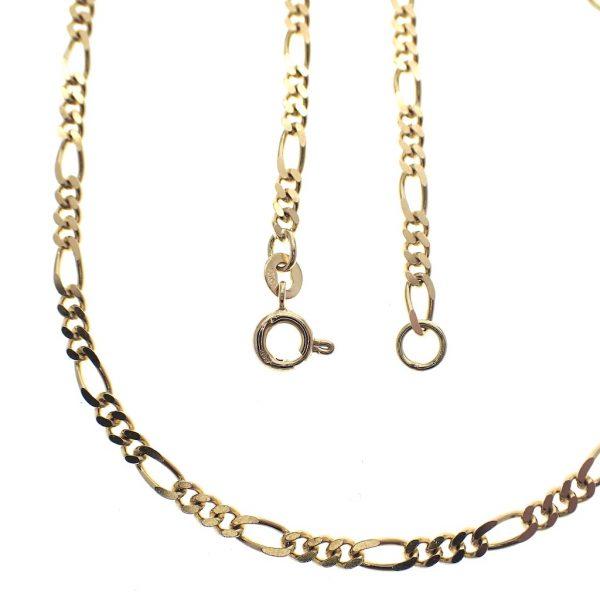 gouden figaroschakel ketting