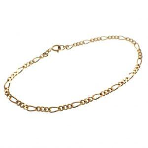 gouden figaro schakel armband