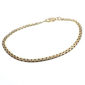 gouden platte schakel armband