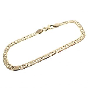 gouden gesloten figaro armband