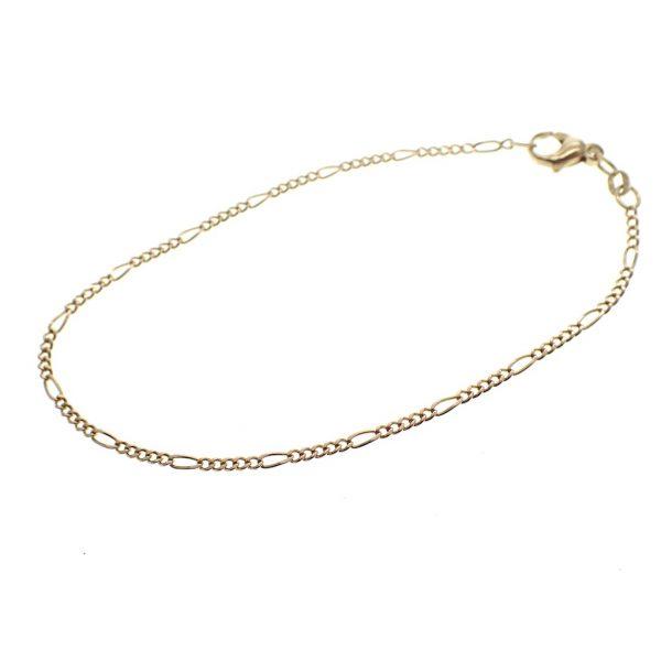 gouden dunne figaro schakel armband