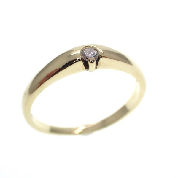 gouden solitair ring