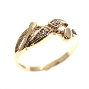 18 karaat gouden ring fantasie zirconia