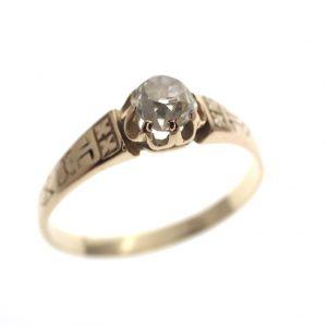 antieke gouden ring bolsjewiek old Dutch cut