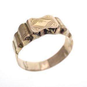gouden monogram ring antiek