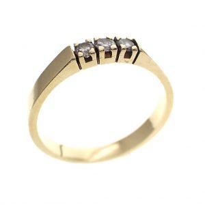 gouden rijring met diamant