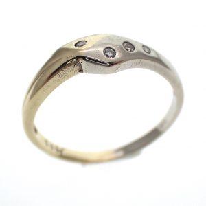 bicolor gouden ring diamant