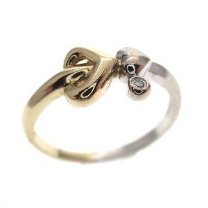 bicolor gouden fantasie ring