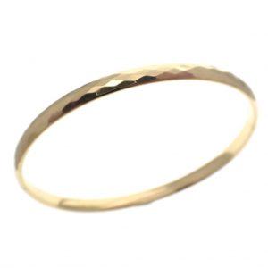 gouden slaven armband geruit motief
