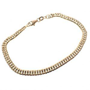 platte gourmet schakel armband goud
