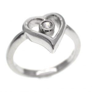 ring met hart, zirconia