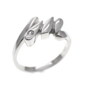 zilveren fantasie ring zirconia