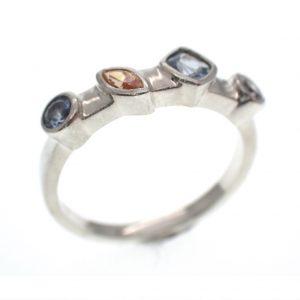 zilveren cluster ring