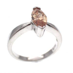 zilveren ring markies geslepen steen