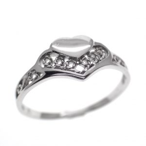 zilveren ring met hartje