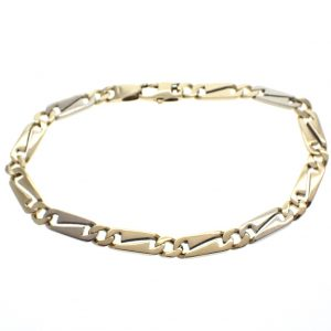 gouden bicolor armband solide