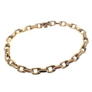 gouden anker schakel armband