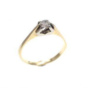 gouden solitair ring met diamant