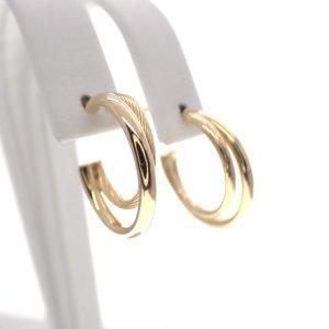 gouden creolen dubbel ring