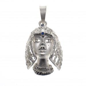 zilveren hanger cleopatra met zirconia