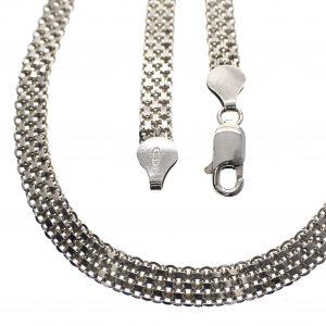 zilveren dubbele schakel ketting