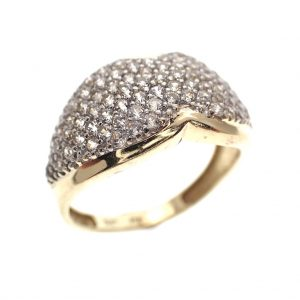 gouden ring vol diamanten pave