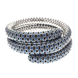 zilveren armband John hardy coil double turquoise