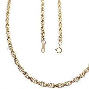 gouden dubbele jasseron ketting collier