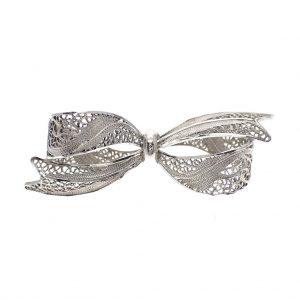zilveren broche strik filigrain vintage